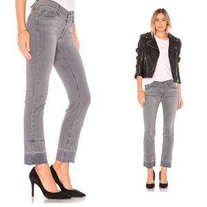 REVOLVE Black Orchid Bardot Straight Fray Jeans